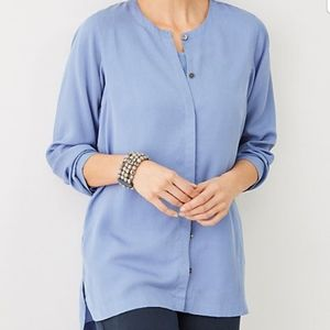 J.Jill pure jill tencel tunic in periwinkle